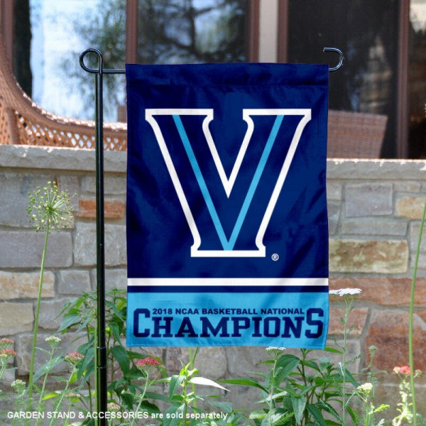 Villanova Wildcats 2018 NCAA National Basketball Champions Garden Flag is 13x18 inches in size, is made of 2-layer polyester, screen printed university athletic logos and lettering, and is readable and viewable correctly on both sides. Available same day shipping, our Villanova Wildcats 2018 NCAA National Basketball Champions Garden Flag is officially licensed and approved by the university and the NCAA.