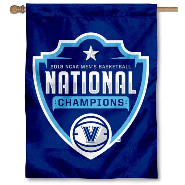 Villanova Wildcats NCAA Basketball 2018 Champions House Flag is a vertical house flag which measures 30x40 inches, is made of 2 ply 100% polyester, offers screen printed NCAA team insignias, and has a top pole sleeve to hang vertically. Our Villanova Wildcats NCAA Basketball 2018 Champions House Flag is officially licensed by the selected university and the NCAA.