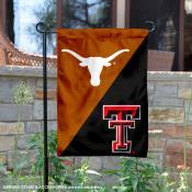 Texas vs. Texas Tech House Divided Garden Flag