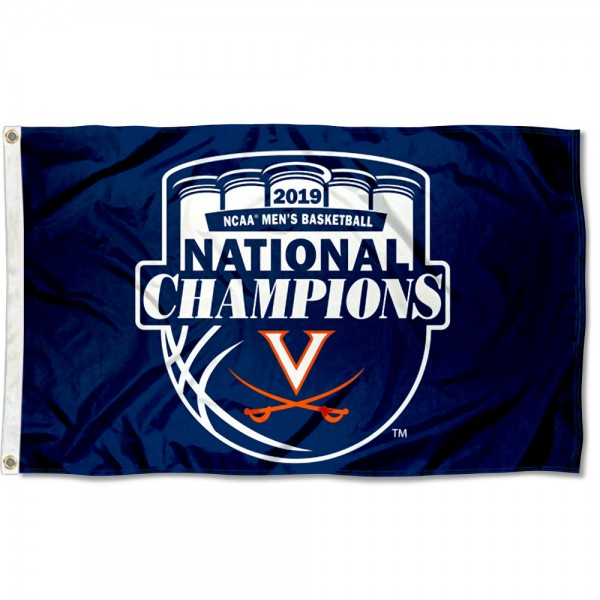 University of Virginia National Basketball 2019 Champions Flag measures 3x5 feet, is made of 100% polyester, offers quadruple stitched flyends, has two metal grommets, and offers screen printed NCAA team logos and insignias. Our University of Virginia National Basketball 2019 Champions Flag is officially licensed by the selected university and NCAA.