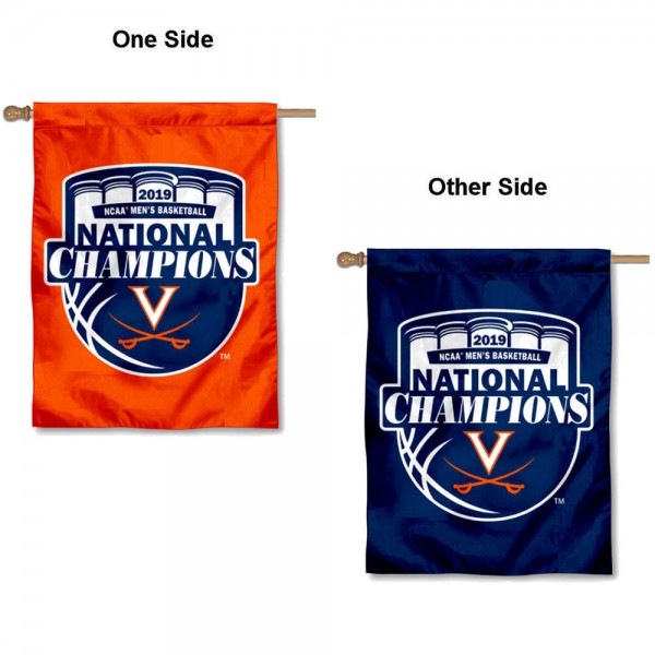 Virginia Cavaliers 2019 College Basketball National Champions House Flag is a vertical house flag which measures 30x40 inches, is made of 2 ply 100% polyester, offers screen printed NCAA team insignias, and has a top pole sleeve to hang vertically. Our Virginia Cavaliers 2019 College Basketball National Champions House Flag is officially licensed by the selected university and the NCAA.