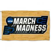March College Basketball Madness Tournament Flag