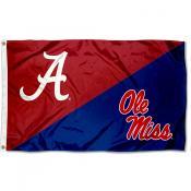 Alabama vs Ole Miss House Divided 3x5 Flag