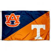 Auburn vs Tennessee House Divided 3x5 Flag