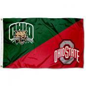 Ohio vs Ohio State House Divided 3x5 Flag