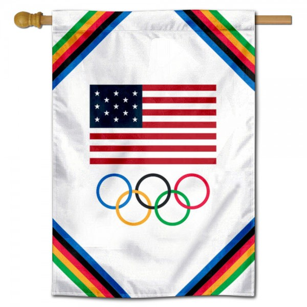 USA Olympic Rings Banner Flag is 28x40 inches in size, is made of 1-layer 150d polyester, screen printed logos and lettering, and is viewable on both sides. Available same day shipping, our USA Olympic Rings Banner Flag is a great addition to your decorative Banner Flag selections.