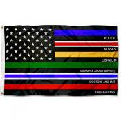 Essential Services Thin Line Flag
