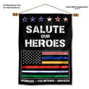 Salute Our Essential Workers Wall Banner
