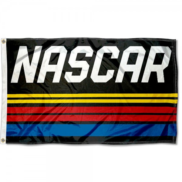 NASCAR Flag is licensed by NASCAR, measures 3x5 feet, is single-ply, offers two metal grommets, Express Shipped, and is made of 100% polyester. Our NASCAR Flag is officially licensed and approved by NASCAR.