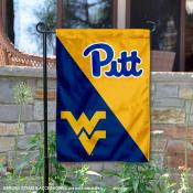 Pitt Panthers vs WVU Mountaineers House Divided Garden Flag
