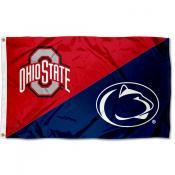 Ohio State vs Penn State House Divided 3x5 Flag