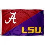 Alabama vs LSU House Divided 3x5 Flag