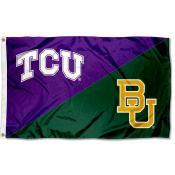 Texas Christian vs Baylor House Divided 3x5 Flag