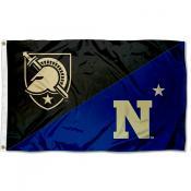 Army vs Navy House Divided 3x5 Flag