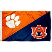 Clemson vs Auburn House Divided 3x5 Flag