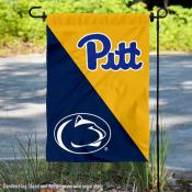 Pitt Panthers vs Penn State House Divided Garden Flag