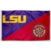 LSU vs. Ragin Cajuns House Divided 3x5 Flag