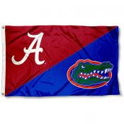 Alabama vs. Florida House Divided 3x5 Flag