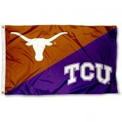 Longhorns vs. Horned Frogs House Divided 3x5 Flag