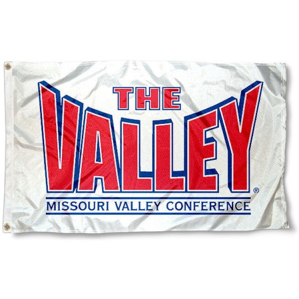 The Valley Conference Flag measures 3'x5', is made of 100% poly, has quadruple stitched sewing, two metal grommets, and has double sided The Valley Conference logos. Our The Valley Conference Flag is officially licensed by the selected university and the NCAA