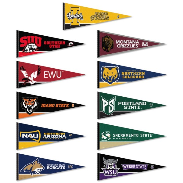 Big Sky Conference Pennants consists of all Big Sky Conference school pennants and measure 12x30 inches. Big Sky Conference teams are included and the Big Sky Conference Pennants is officially licensed by the NCAA and selected conference schools.