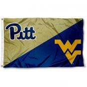 Pittsburgh vs. West Virginia House Divided 3x5 Flag