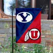 Brigham Young vs. Utah House Divided Garden Flag