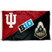 Indiana vs. Purdue House Divided 3x5 Flag