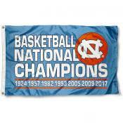UNC 7 Time Basketball Champions Flag