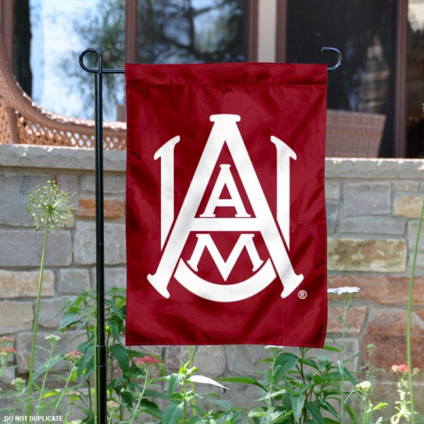 AAMU Bulldogs Garden Flag is 13x18 inches in size, is made of 2-layer polyester, screen printed Alabama A&M University athletic logos and lettering. Available with Same Day Express Shipping, Our AAMU Bulldogs Garden Flag is officially licensed and approved by Alabama A&M University and the NCAA.