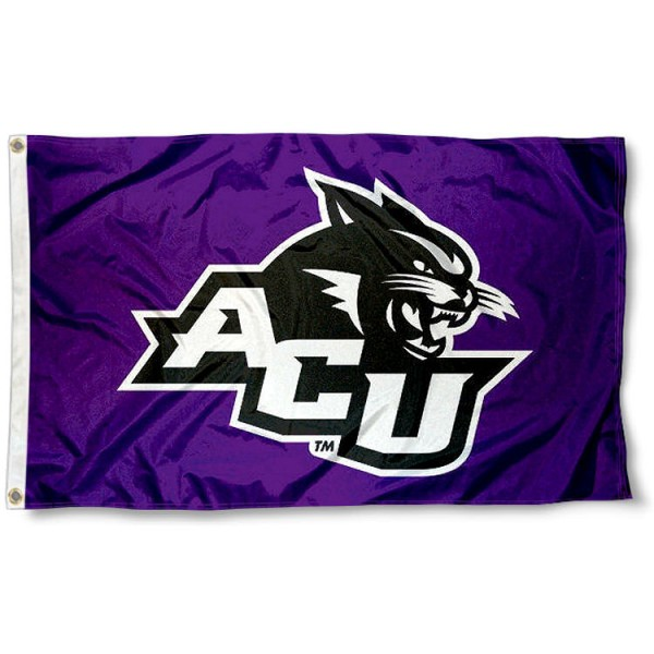 Abilene Christian University Flag measures 3'x5', is made of 100% poly, has quadruple stitched sewing, two metal grommets, and has double sided Abilene Christian University logos. Our Abilene Christian University Flag is officially licensed by the selected university and the NCAA