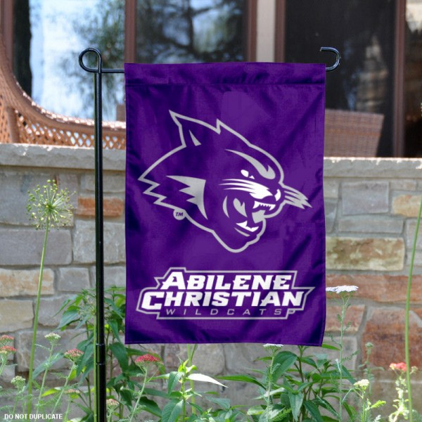 Abilene Christian University Garden Flag is 13x18 inches in size, is made of 2-layer polyester, screen printed Abilene Christian University athletic logos and lettering. Available with Same Day Express Shipping, Our Abilene Christian University Garden Flag is officially licensed and approved by Abilene Christian University and the NCAA.