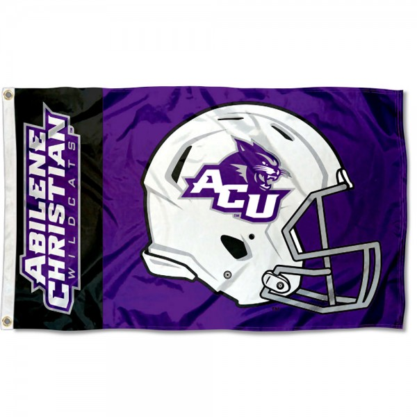 ACU Wildcats Football Helmet Flag measures 3x5 feet, is made of 100% polyester, offers quadruple stitched flyends, has two metal grommets, and offers screen printed NCAA team logos and insignias. Our ACU Wildcats Football Helmet Flag is officially licensed by the selected university and NCAA.