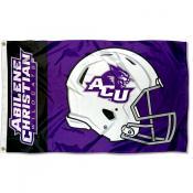 ACU Wildcats Football Helmet Flag