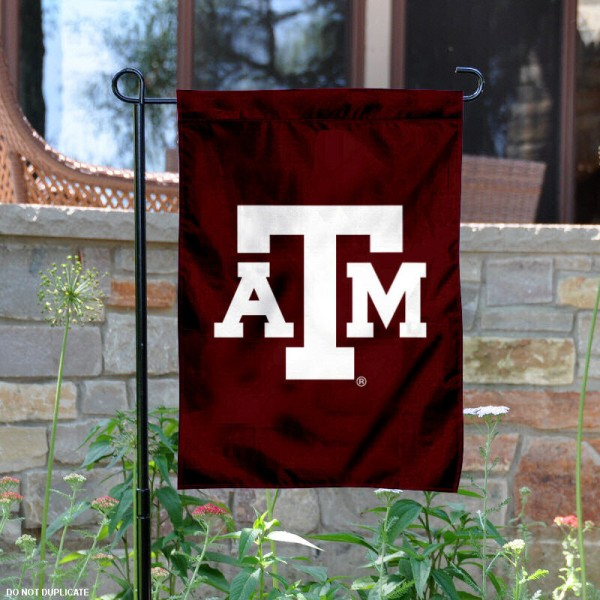 Aggies Garden Flag is 13x18 inches in size, is made of 2-layer polyester, screen printed Texas A&M University athletic logos and lettering. Available with Same Day Express Shipping, Our Aggies Garden Flag is officially licensed and approved by Texas A&M University and the NCAA.
