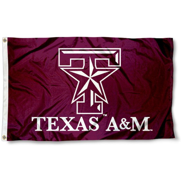 Aggies Star Flag measures 3x5 feet, is made of 100% polyester, offers quadruple stitched flyends, has two metal grommets, and offers screen printed NCAA team logos and insignias. Our Aggies Star Flag is officially licensed by the selected university and NCAA