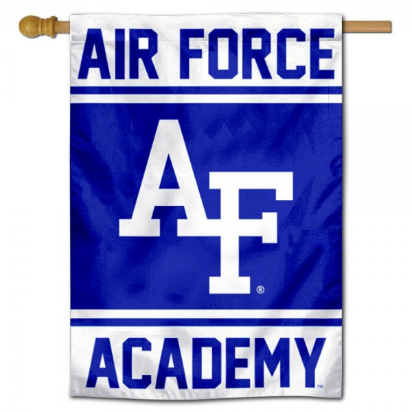 Air Force Academy Double Sided Banner is a vertical house flag which measures 28x40 inches, is made of 2 ply 100% nylon, offers screen printed NCAA team insignias, and has a top pole sleeve to hang vertically. Our Air Force Academy Double Sided Banner is officially licensed by the selected university and the NCAA.