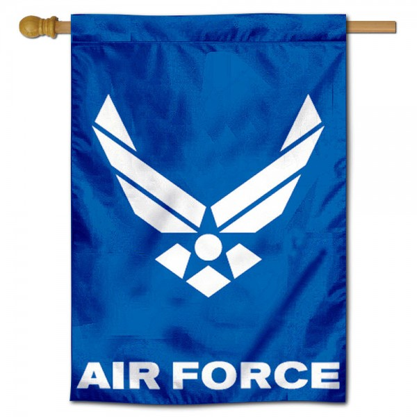 Air Force Academy House Flag is a vertical house flag which measures 30x40 inches, is made of 100% 2-layer with liner polyester, offers screen printed college team insignias, and has a top pole sleeve to hang vertically. Our Air Force Academy House Flag is officially licensed by the selected university and the NCAA.