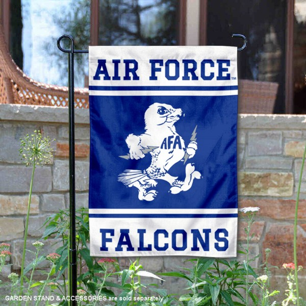 Air Force Falcons Garden Flag is 13x18 inches in size, is made of 2-layer polyester, screen printed logos and lettering. Available with Same Day Express Shipping, Our Air Force Falcons Garden Flag is officially licensed and approved by the NCAA.