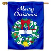 Air Force Falcons Happy Holidays Banner Flag
