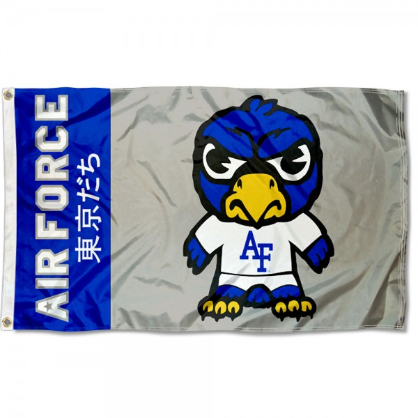Air Force Falcons Kawaii Tokyo Dachi Yuru Kyara Flag measures 3x5 feet, is made of 100% polyester, offers quadruple stitched flyends, has two metal grommets, and offers screen printed NCAA team logos and insignias. Our Air Force Falcons Kawaii Tokyo Dachi Yuru Kyara Flag is officially licensed by the selected university and NCAA.