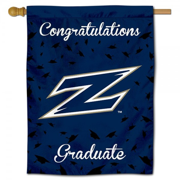 Akron Zips Congratulations Graduate Flag measures 30x40 inches, is made of poly, has a top hanging sleeve, and offers dye sublimated Akron Zips logos. This Decorative Akron Zips Congratulations Graduate House Flag is officially licensed by the NCAA.