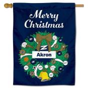Akron Zips Happy Holidays Banner Flag