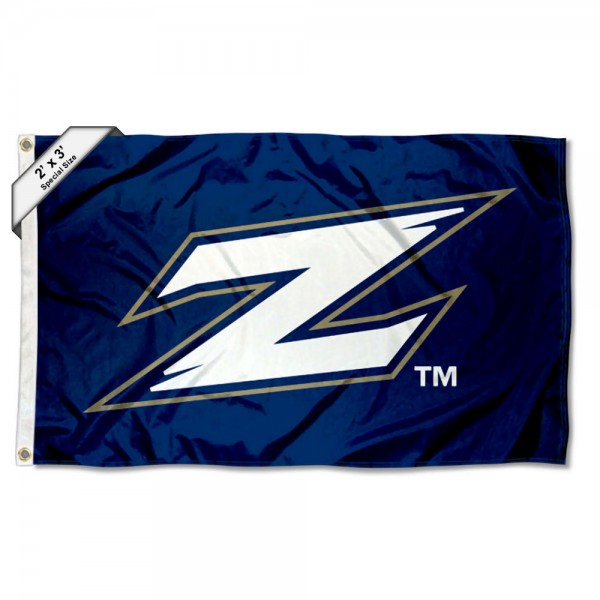 Akron Zips Small 2'x3' Flag measures 2x3 feet, is made of 100% polyester, offers quadruple stitched flyends, has two brass grommets, and offers printed Akron Zips logos, letters, and insignias. Our 2x3 foot flag is Officially Licensed by the selected university.