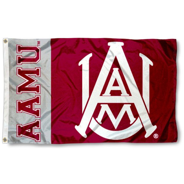 Alabama A&M 3x5 Flag is made of 100% nylon, offers quad stitched flyends, measures 3x5 feet, has two metal grommets, and is viewable from both side with the opposite side being a reverse image. Our Alabama A&M 3x5 Flag is officially licensed by the selected college and NCAA.