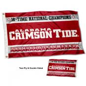 Alabama Crimson Tide 18 Time Football National Champions Double Sided Flag