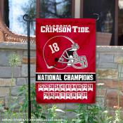 Alabama Crimson Tide 18 Time Football National Champions Garden Flag