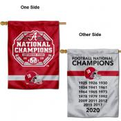 Alabama Crimson Tide 18x Time Dynasty National Champions Double Sided House Flag