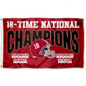 Alabama Crimson Tide 2020 18 Time College Football Champions Flag