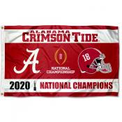 Alabama Crimson Tide 2020 College Football Champions Large Flag